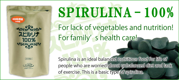 Spirulina 100% 2400tablets